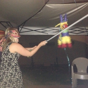 Initiating membership with a sacrifice piñata.