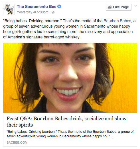 Sacramento Bee Bourbon Babes article
