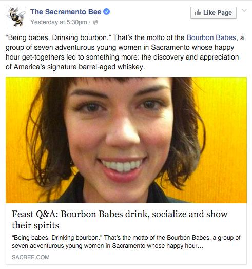 Sacramento Bee Bourbon Babes article