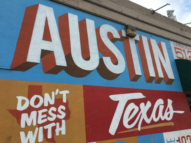 don't mess with texas mural